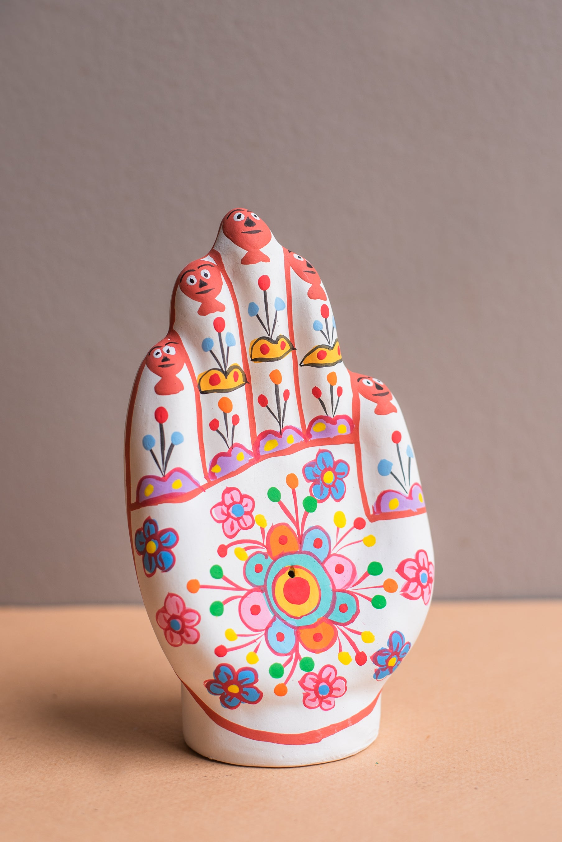 Hand Painted Clay Flower Hand Incense Holder Ian Snow Ltd