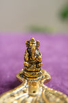 Ganesh Incense Holder Antique Brass Finish