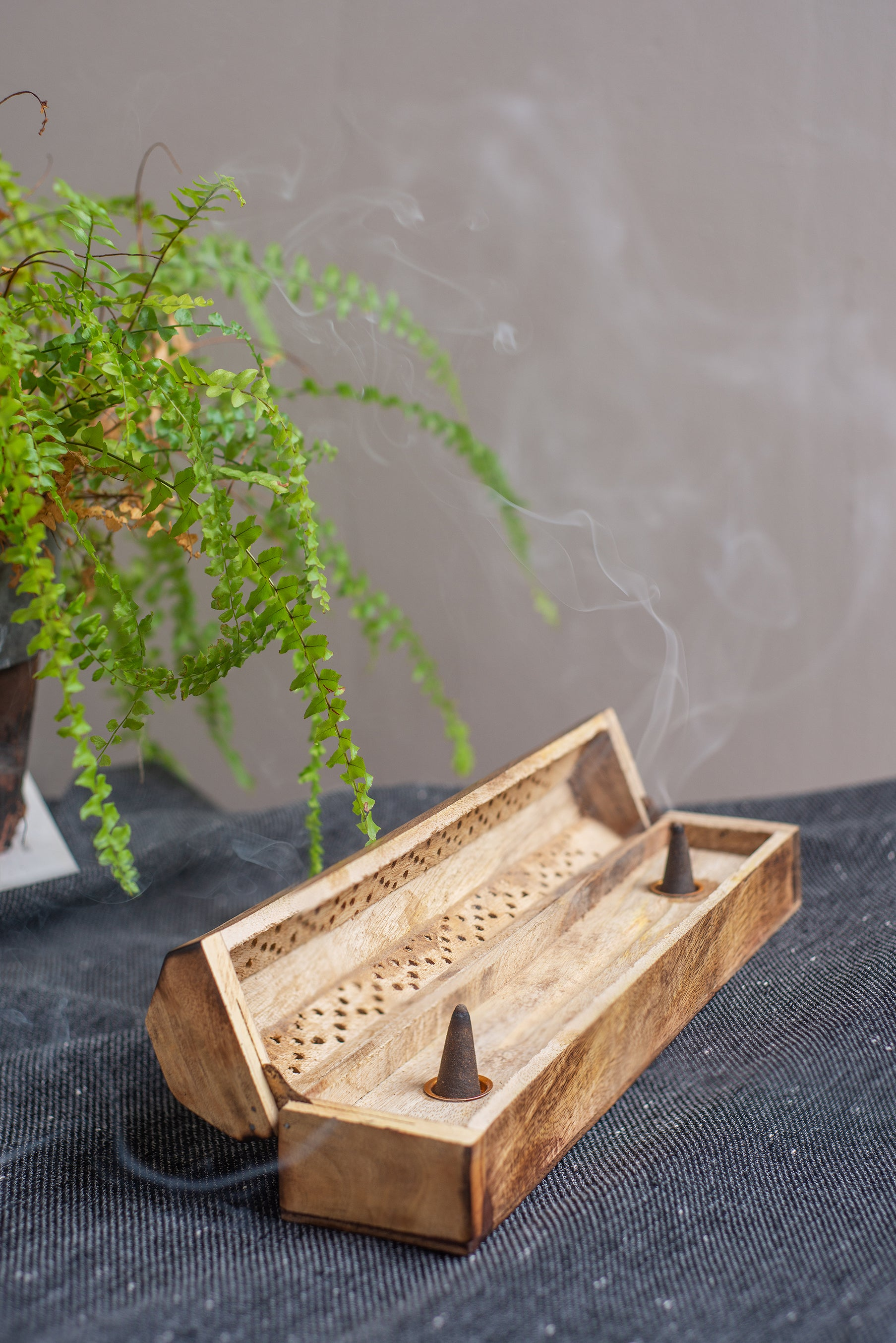 Wooden Jali Incense Box Ian Snow Ltd
