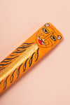 Lion Hand Painted Wooden Incense Burner
