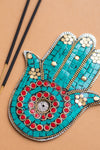 Mosaic Hamsa Hand Incense Holder