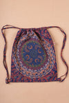 Mandala Cotton Drawstring Back Pack - Dark Centre