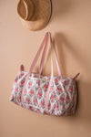 Confetti Blush Block Print Travel Bag