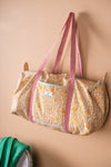 Coastal Blossom Block Print Travel Bag