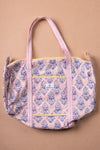 Lemon Sorbet Block Print Travel Bag