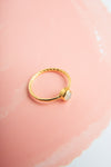 Mihika Eutopian Opal Gold Mini Ring