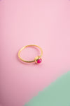 Mihika Ruby Gold Mini Ring