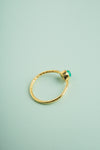 Mihika Green Onyx Gold Mini Ring