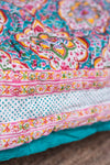 Colourful Block Print Cotton Quilt