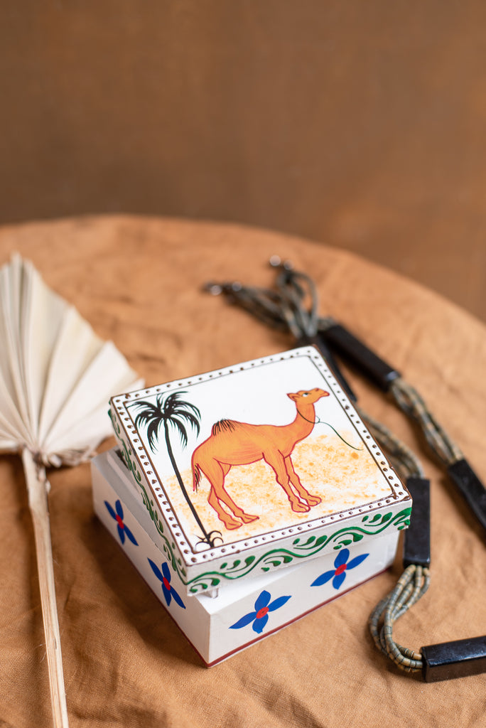 Camel Hand Painted Box