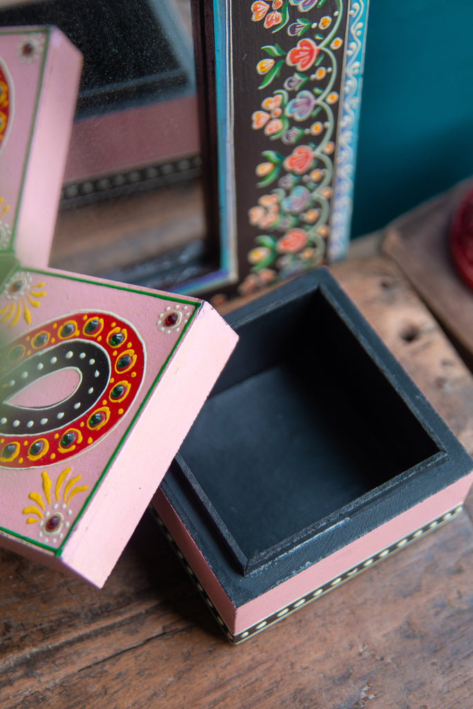 Hand Painted Square Box