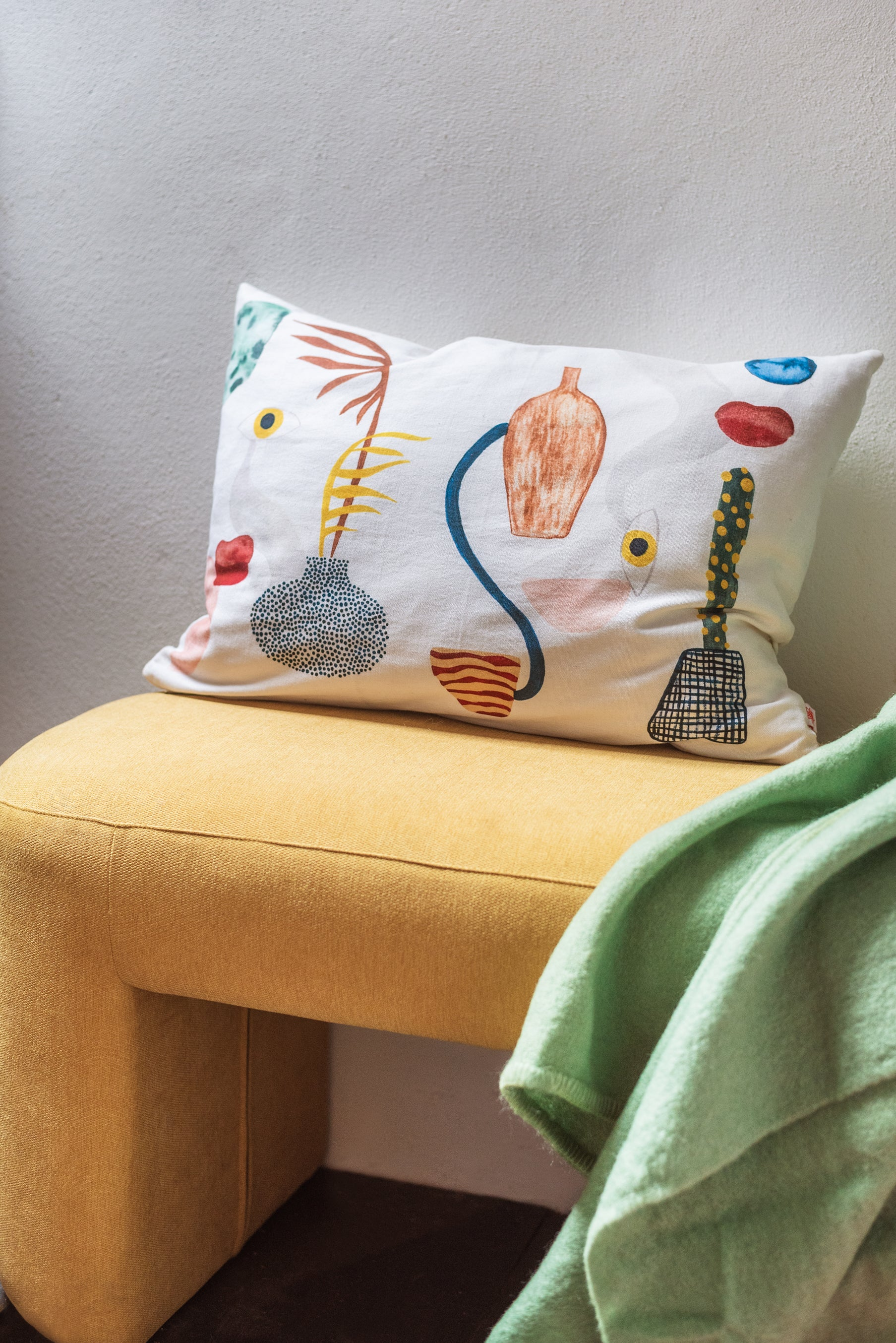Abstract Printed Cushion Cover