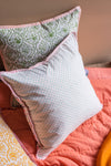 Confetti Blush Block Print Cushion Cover