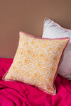 Coastal Blossom Block Print Cushion Cover