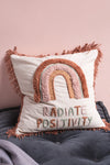 Radiate Positivity Embroidered Cushion Cover