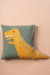 Dino Embroidered Cushion Cover