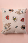 Hands & Eyes Embroidered Cushion Cover