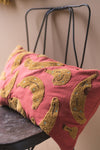 Banana Tufted & Embroidered Cushion Cover