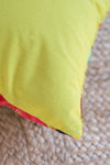 Lime Bird Of Paradise Velvet Cushion Cover