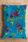 Petrol Velvet Desire Cushion Cover