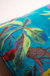 Blue Bird of Paradise Cotton Velvet Cushion Cover