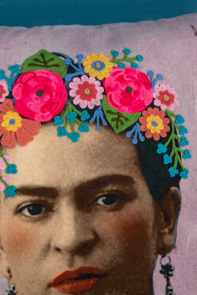 Frida Kahlo Mauve Cushion Cover