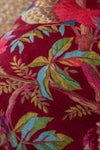 Red Bird Of Paradise Velvet Cushion Cover