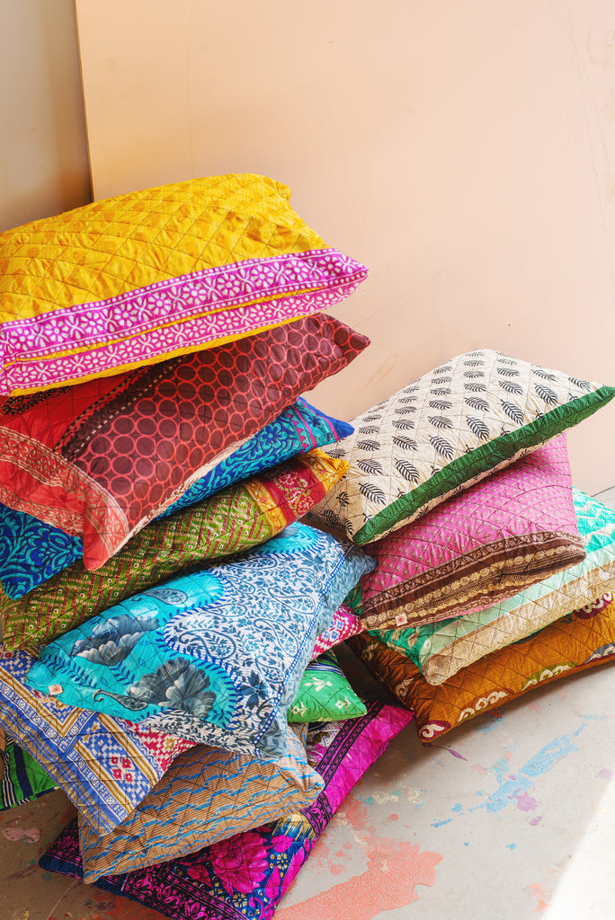 Recycled Sari Cushion Cover - 12