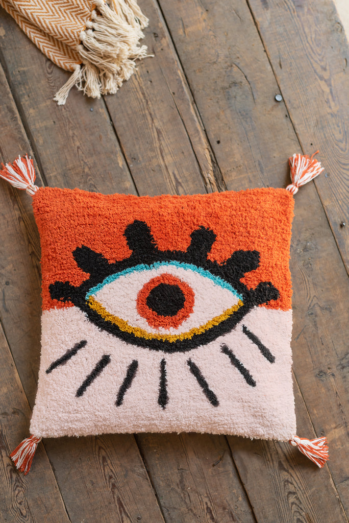 Tufted Eye 100% Recycled Cotton Cushion Cover