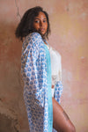 Aruba Hand Block Printed Cotton Dressing Gown