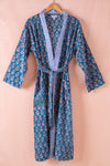 Amparo Hand Block Printed Cotton Dressing Gown