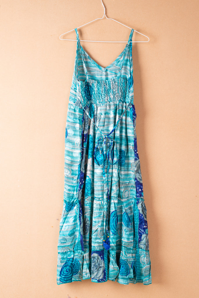 Recycled Silk Rosehip Long Dress - small - 15