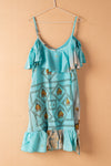 Recycled Silk Short Sleeveless Dress - large - 33