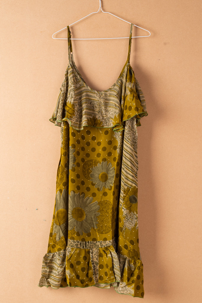 Recycled Silk Short Sleeveless Dress - large - 36