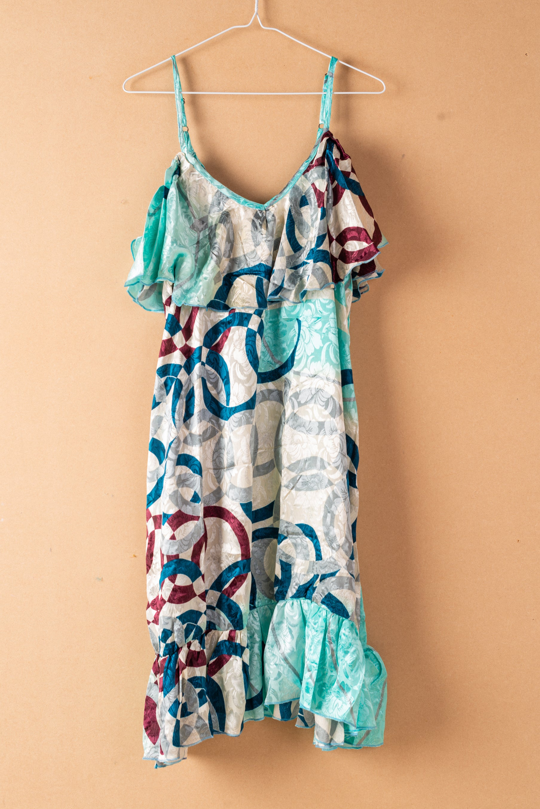 Recycled Silk Short Sleeveless Dress - large - 49