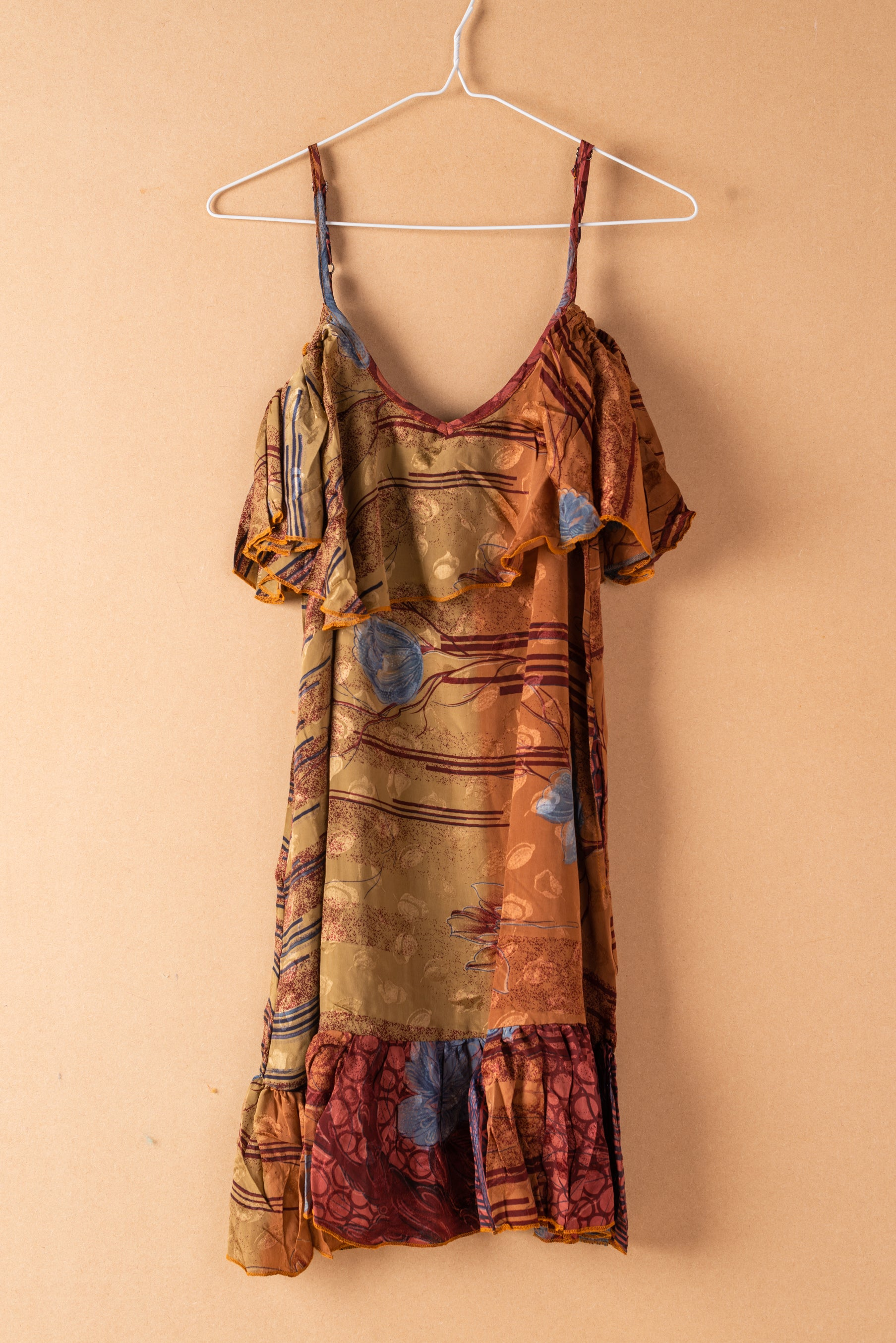 Recycled Silk Short Sleeveless Dress - small - 07