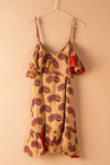 Recycled Silk Short Sleeveless Dress - small - 10