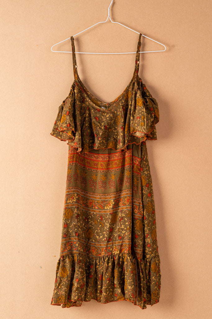 Recycled Silk Short Sleeveless Dress - small - 18