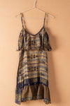 Recycled Silk Short Sleeveless Dress - small - 22
