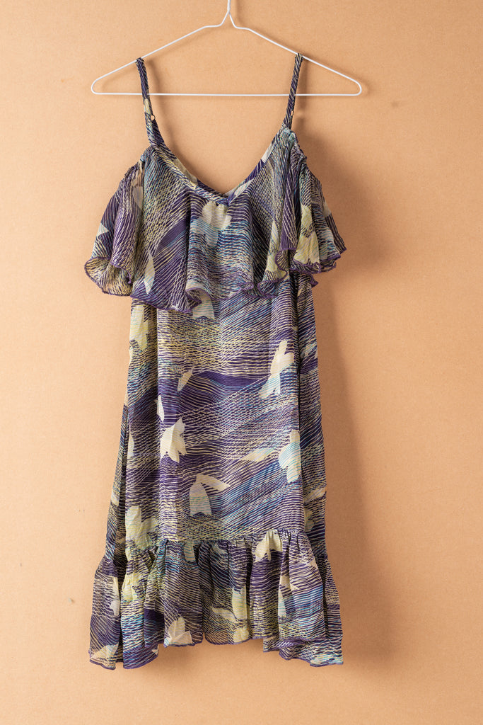 Recycled Silk Short Sleeveless Dress - small - 25