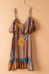 Recycled Silk Short Sleeveless Dress - small - 27