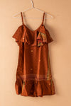 Recycled Silk Short Sleeveless Dress - small - 28