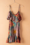 Recycled Silk Short Sleeveless Dress - small - 30