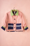 Scrap Scrap Denim Pink & Green Box Jacket - S/M