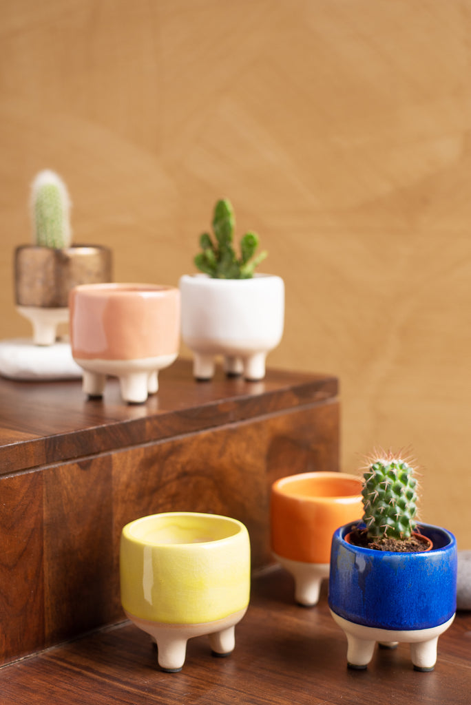 Peach Earthenware Planter