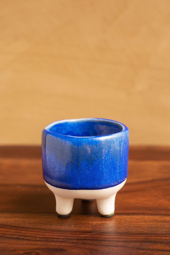 Blue Earthenware Planter
