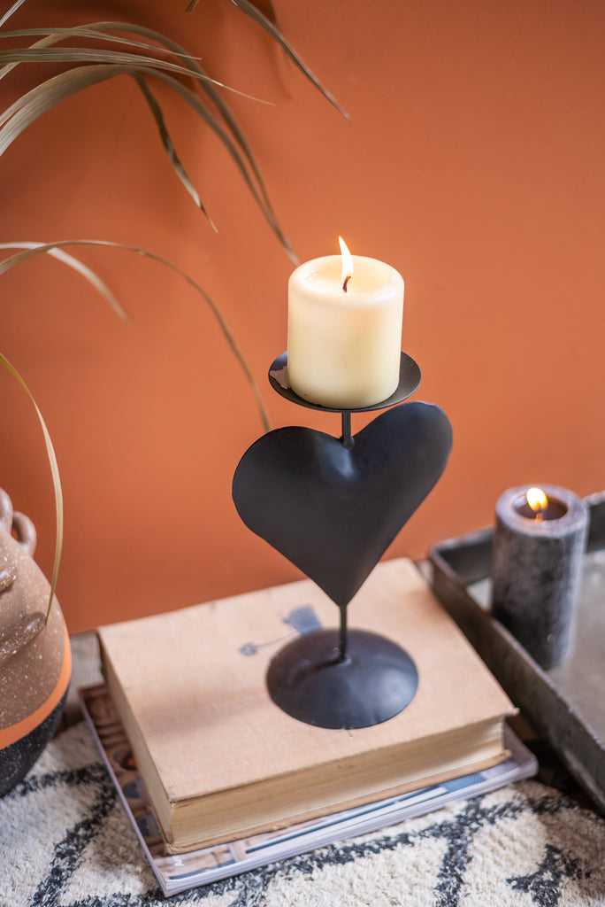Black Heart Candle Holder