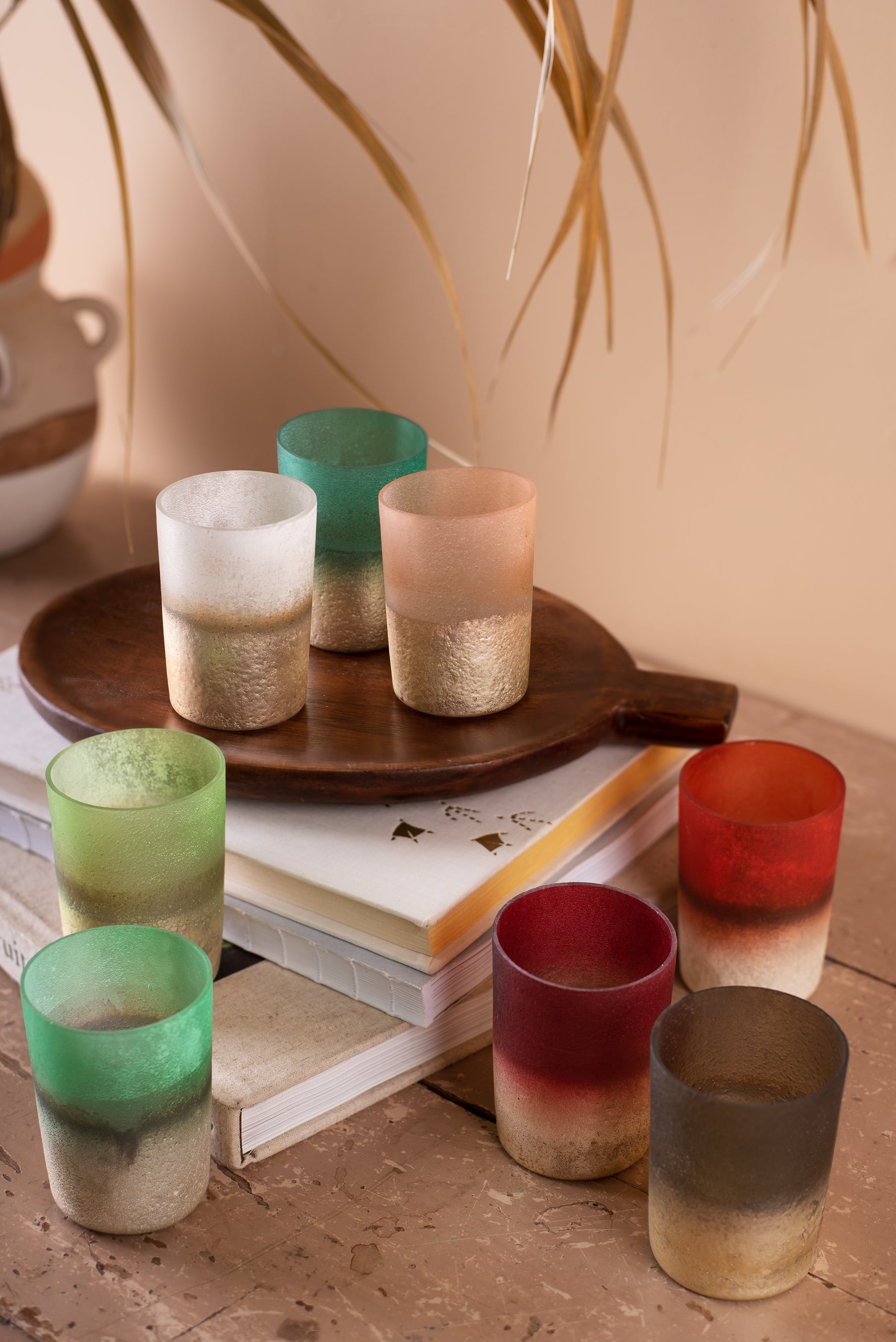 Frosted Dip-Dyed Votive