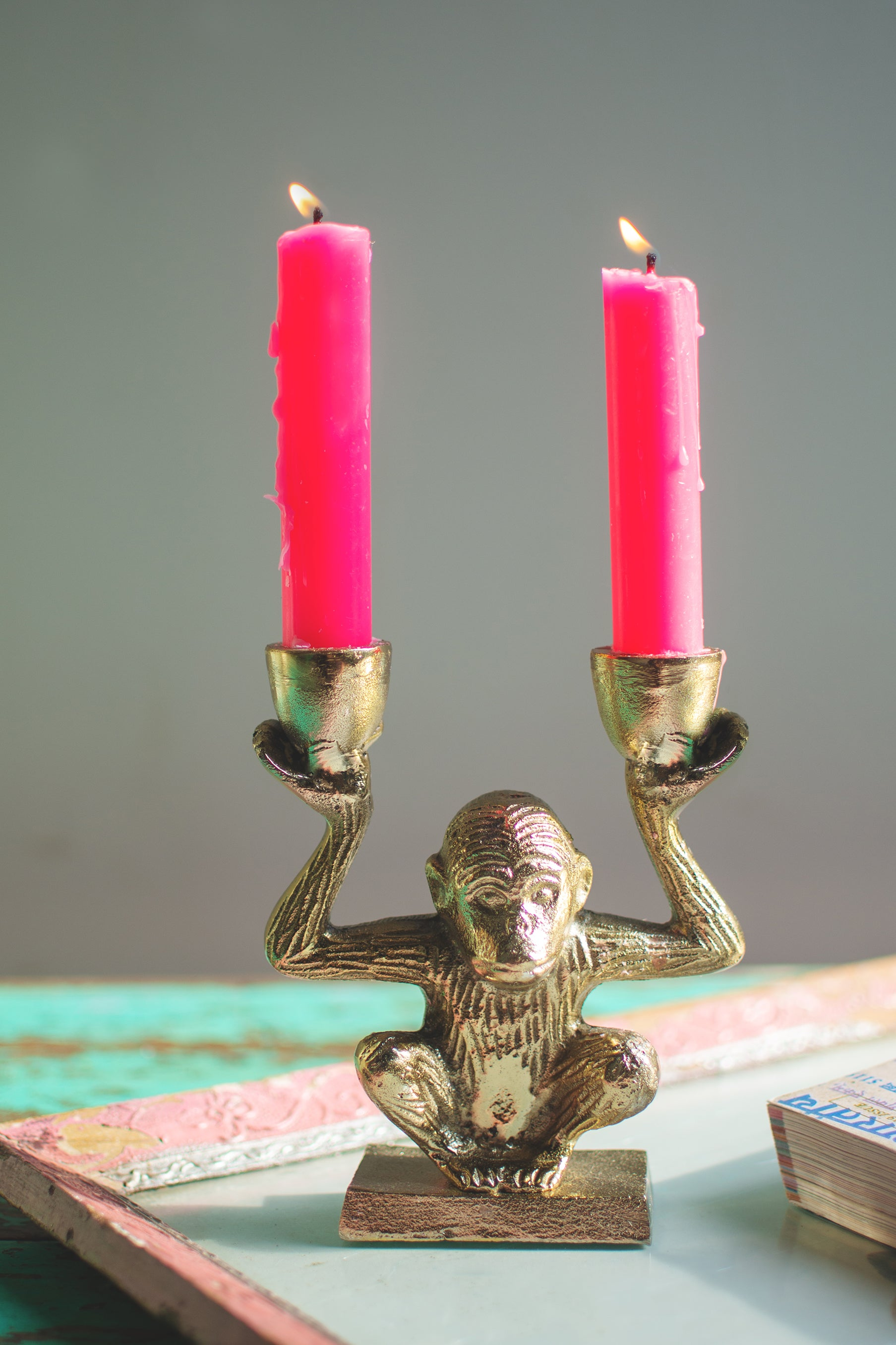 Monkey Two Candle Holder