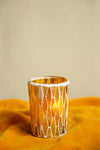 Mustard Lustre Glass Mosaic Votive